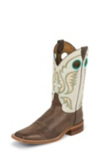 MEN'S BROWN BENT RAIL® BOOTS WITH WHITE TOP