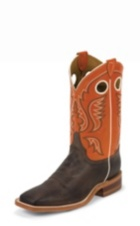 MEN'S BROWN BENT RAIL® BOOTS WITH ORANGE TOP