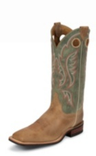 MEN'S BROWN BENT RAIL® BOOTS WITH SAGE GREEN TOP