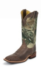 MEN'S BROWN BENT RAIL® BOOTS WITH CAMOUFLAGE TOP