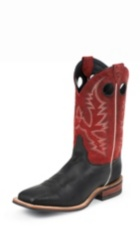 MEN'S BLACK BENT RAIL® BOOTS WITH DARK RED TOP
