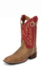MEN'S BROWN BENT RAIL® BOOTS WITH DARK RED TOP