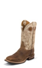 MEN'S BROWN BENT RAIL® BOOTS WITH BEIGE TEXTURED TOP
