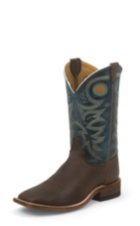 MEN'S BROWN BENT RAIL® BOOTS WITH DARK BLUE TOP