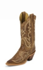 WOMEN'S DISTRESSED BROWN BENT RAIL® BOOTS