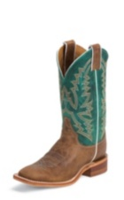 WOMEN'S BROWN BENT RAIL® BOOTS WITH DARK TURQUOISE TOP