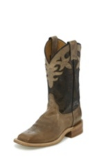 WOMEN'S BROWN BENT RAIL® BOOTS WITH DARK BROWN DISTRESSED TOP