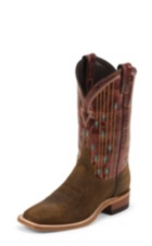 WOMEN'S BROWN BENT RAIL® BOOTS WITH BROWN PATTERN TOP