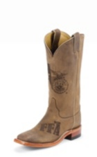 MEN'S TAN COWHIDE FFA BOOTS