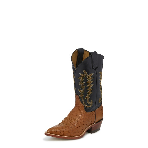 Image for COGNAC SMOOTH OSTRICH boot; Style# J3244
