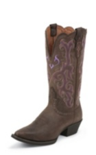 WOMEN'S  CHOCOLATE STAMPEDE WESTERN BOOTS