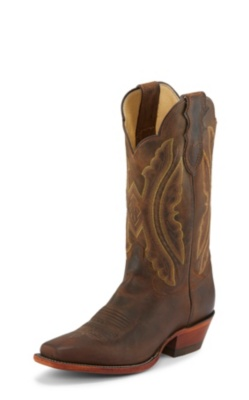 WOMEN'S TAN DISTRESSED VINTAGE GOAT WESTERN BOOTS