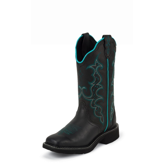 Image for BLACK CRAZY HORSE boot; Style# L2902