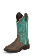 WOMEN'S BROWN COWHIDE GYPSY BOOTS