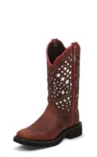 WOMEN'S REDWOOD GYPSY BOOTS WITH WHITE PATTERN TOP