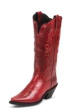 WOMEN'S BUFFED RED FASHION BOOTS