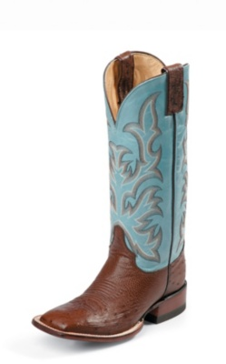 WOMEN'S ANTIQUE BROWN SMOOTH OSTRICH AQHA Q-CREPE™ BOOTS