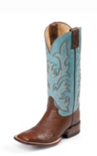 WOMEN'S BROWN SMOOTH OSTRICH AQHA REMUDA® BOOTS