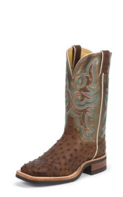 WOMEN'S ANTIQUE SADDLE FULL QUILL OSTRICH AQHA Q-CREPE™ BOOTS