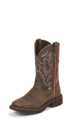 WOMEN'S BARNWOOD BROWN BUFFALO JUSTIN GYPSY™ BOOTS