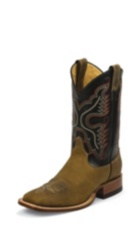 MEN'S RUGGED TAN GAUCHO JUSTIN RANCH COLLECTION BOOTS