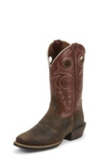 MEN'S BROWN BUFFALO SILVER COLLECTION BOOTS