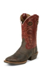 MEN'S CHOCOLATE BUFFALO SILVER COLLECTION BOOTS