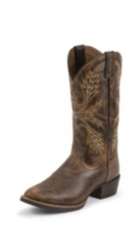 MEN'S ANTIQUE BROWN SILVER COLLECTION BOOTS
