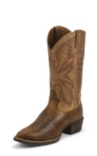 MEN'S TAN BUFFALO SILVER COLLECTION BOOTS