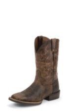 MEN'S BROWN SILVER COLLECTION BOOTS WITH ACCENTS