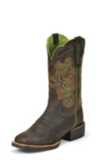 WOMEN'S BROWN SILVER COLLECTION BOOTS WITH TAN ACCENTS