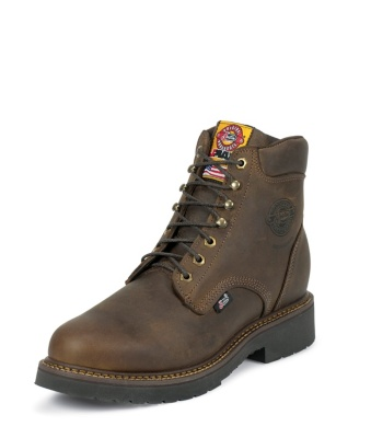 MEN'S RUGGED BAY GAUCHO J-MAX® LACE UP STEEL TOE WORK BOOTS