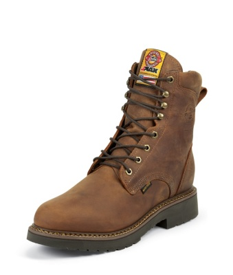 MEN'S RUGGED AGED BARK GAUCHO J-MAX® LACE UP WATERPROOF WORK BOOTS