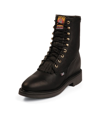 MEN'S BLACK PITSTOP DOUBLE COMFORT® LACE UP WORK BOOTS