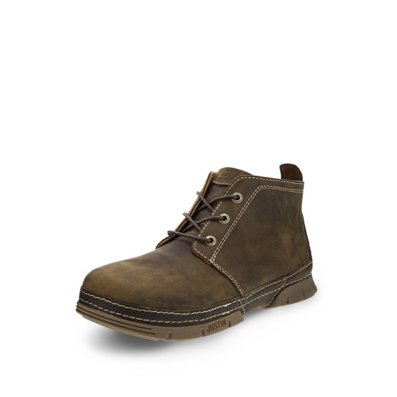 Image for TOBAR BROWN 3 EYE STEEL TOE shoe; Style# WK275