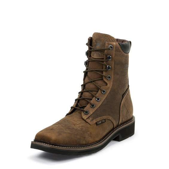 Justin Original Workboots Wk462 Driller Waterproof Comp Toe
