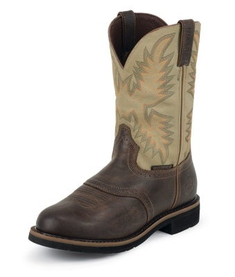 MEN'S WAXY BROWN STAMPEDE WATERPROOF WORK BOOTS