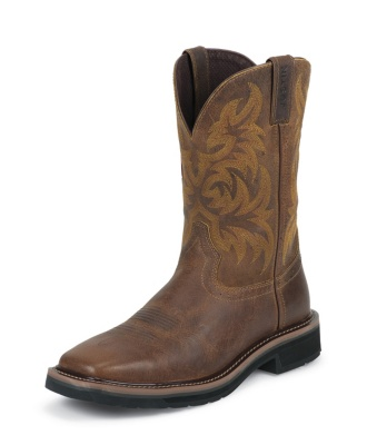 MEN'S TAN TAIL STAMPEDE WORK BOOTS