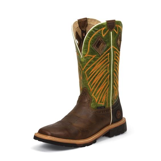 Image for DERRICKMAN TAN STEEL TOE boot; Style# WK4971