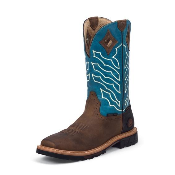 Image for DERRICKMAN BROWN STEEL TOE boot; Style# WK4972
