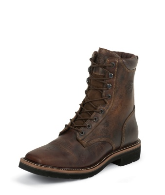 MEN'S RUGGED TAN STAMPEDE WORK BOOTS