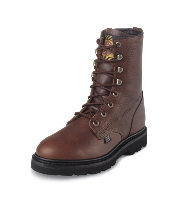 MEN'S TAN PREMIUM LIGHT DUTY LACE UP WORK BOOTS