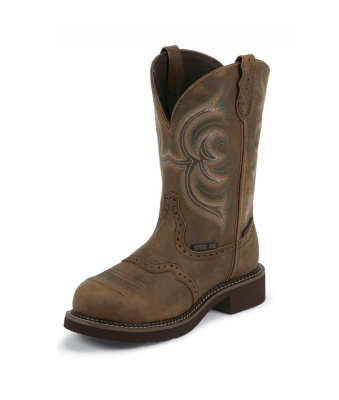 WOMEN'S AGED BARK JUSTIN GYPSY™ WATERPROOF STEEL TOE WORK BOOTS