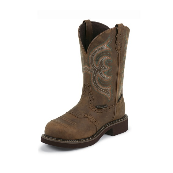 Image for WANETTE BROWN WATERPROOF STEEL TOE boot; Style# WKL9984