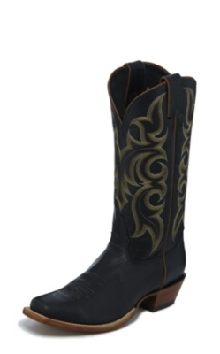 MEN'S BLACK LEGACY CALF SKIN WESTERN BOOTS