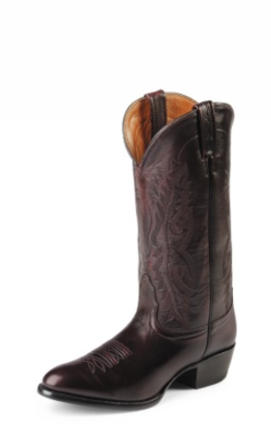 MEN'S BLACK CHERRY BRUSH OFF IMPERIAL CALF GENTLEMEN'S WESTERN BOOTS