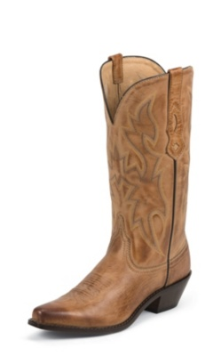 WOMEN'S TAN DEERTANNED COW COWGIRL POSH™ WESTERN BOOTS