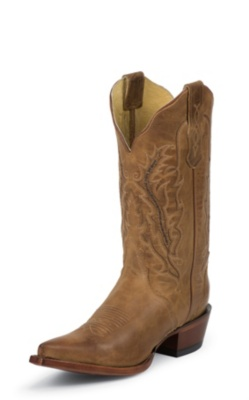 WOMEN'S OLD WEST TAN FASHION WESTERN BOOTS