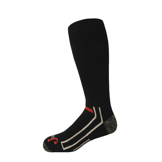 Image for JUSTIN FULL CUSHION OVER THE CALF-BLACK ; Style# SOX9509BK