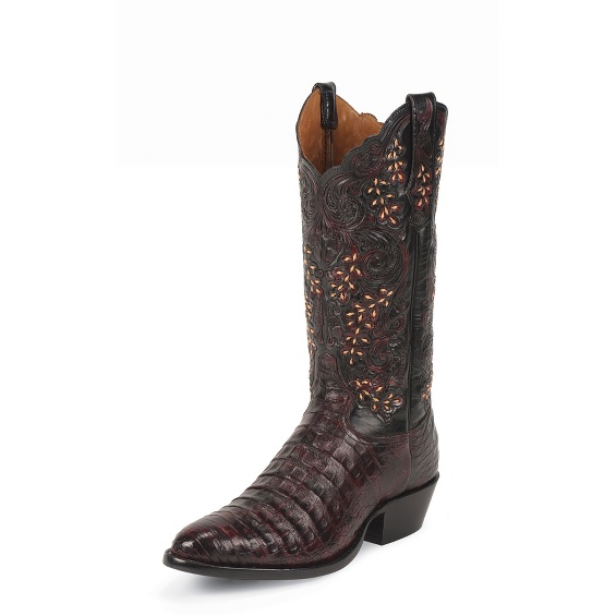 Image for BLACK CHERRY  BELLY ANTIQUE CAIMAN boot; Style# 1002